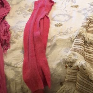 Pink scarf winter